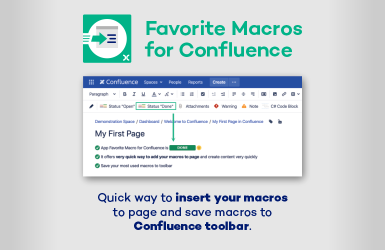 Favorite macros for Confluence